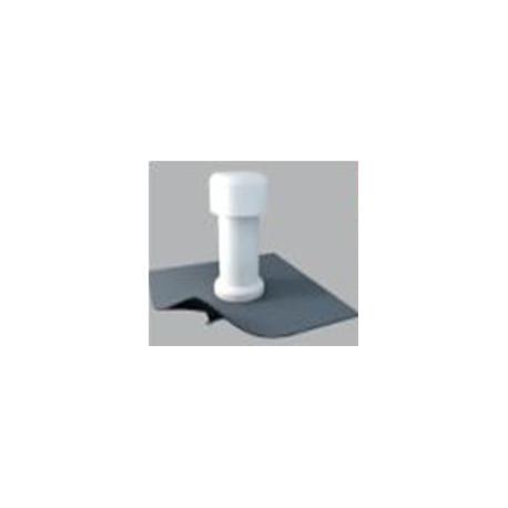 """Odvětrávací komínek """"aerátor"""" manžetou z hydroizolační fólií na bázi PVC (DN 100)"""